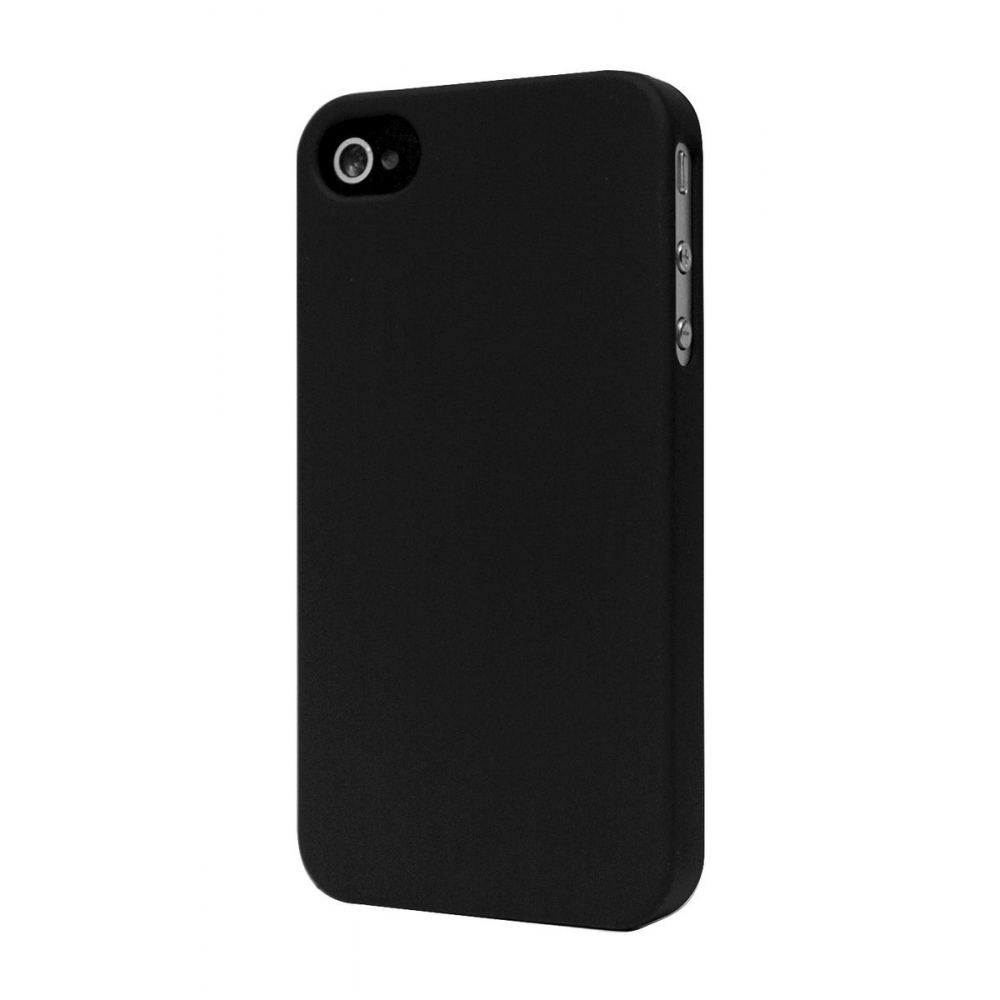 coque iphone 4s 4 moxie cover rubber rigide ultra fine black noir